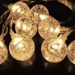 Crystal Bubble Ball Solar Power Led Lights String For Christmas Holiday Decoration
