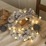 Artificial Christmas Unlit Wreath Handmade Rattan Pendant For Home Decor