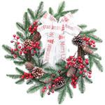 Artificial Christmas Wreath Unlit 15.75'' Door Hanging For Home Decor