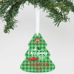 Personalized Aluminum Ornament Oh Christmas Tree
