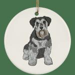 Miniature Schnauzer Dog Ornament Christmas Tree Ornaments Holiday Decor