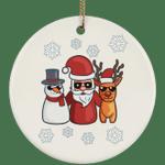 Snowman Santa Reindeer Christmas Tree Ornaments, Christmas Gifts for Snow Lovers