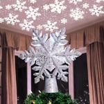 Snowflake Christmas Tree Topper For Christmas Holiday Decor