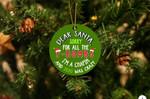 Santa F-Bomb I'm Chapin Christmas Ornament