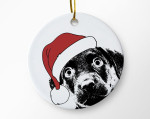 Funny Santa Dog Ornament For Dog Lovers