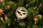 Eagle & Beaver Wooden Ornament Christmas Tree Decoration