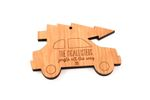 Car With Tree Personalized Christmas Wooden Ornament