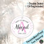 Happy First Birthday Personalized Name Custom Ornament