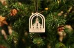 Cedar City Temple Wooden Ornament Christmas Tree Decoration