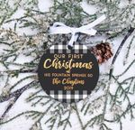 Personalized New Home Ornament, New Home Christmas Ornament, Buffalo Check