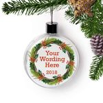 Cute Custom Text Personalized Christmas Ornament
