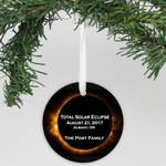 "Personalized Aluminum Ornament - ""Total Solar Eclipse"""