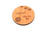 Bowling Ball Personalized Christmas Wooden Ornament