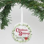 "Personalized Aluminum Ornament - ""Christmas Blessings"", Christmas Tree Decoration"