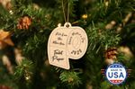 Toilet Paper We Love You More Than Christmas Wooden Ornament - Tree Decoration