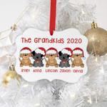 Custom Name Grandkids Personalized Christmas Ornament