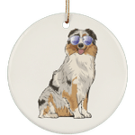 Australian Shepherd Dog Christmas Tree Ornaments, Funny Dog Lover Gifts