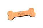 Dog Bone Personalized Christmas Wooden Ornament