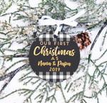 Christmas Ornament Grandparents First Christmas Ornament, Nana & Papa Buffalo Custom Year