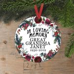 In Loving Memory Personalized Christmas Ornament, Custom Year