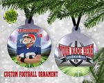 Personalized Image And Name Football Custom Ornament