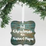 Personalized 1st Christmas As Nana & Papa Ornament