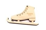 Ice Skating Shoes Personalized Christmas Wooden Ornament