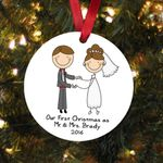 Our First Christmas Ornament Personalized Wedding Gift