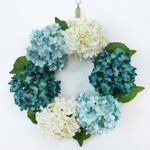 Artificial Hydrangea Simulation Flowers Wreath For Home Decor