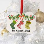 Christmas Stocking Ornament Personalized Christmas Ornament