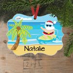 Personalized Tropical Custom Funny Holiday Ornament - Custom Name