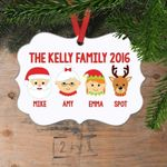Personalized Family Member Name Christmas Ornament
