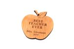 Teacher's Apple Personalized Christmas Wooden Ornament