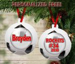 Personalized Soccer Ball For Football Lovers Custom Ornament