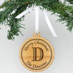 Personalized Engraved Wood Ornament Dawsons