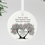 Family Tree Ornament, Personalized Family Ornament, Custom Christmas Ornament. Family Gifts