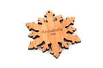 Snowflake Personalized Christmas Wooden Ornament