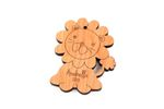 Lion Personalized Christmas Wooden Ornament
