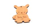 Bunny Personalized Christmas Wooden Ornament