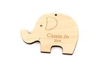 Cute Elephant Personalized Christmas Wooden Ornament
