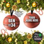 Personalized Name Basketball Custom Ornament