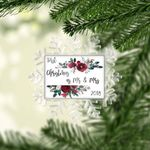 First Christmas as Mr. & Mrs. Wedding Gift Personalized Christmas Ornament