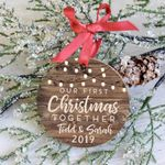 First Christmas Together Ornament 2019, Personalized Christmas Ornament
