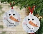 Personalized Snowman Christmas Ornament Christmas Gifts For Friend and Family