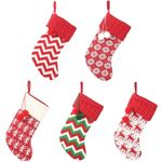 Christmas Stocking 16.14''x7.48'' Ornament Knitted Gift Bag For Home Decor
