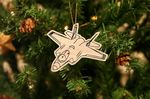 Fighter Jet F-35 Christmas Wooden Ornament For Tree Decoration