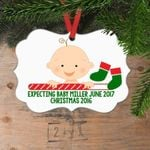 Personalized Pregnancy Announcement Christmas Ornament