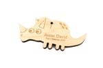 Dinosaur Personalized Christmas Wooden Ornament