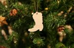 Cowboy Boot Christmas Wooden Ornament For Tree Decoration