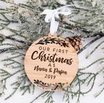 First Christmas Together Ornament Wood Ornament